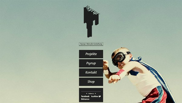 Example of photos of people in website design: Psyrup