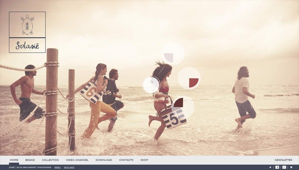 Example of photos of people in website design: Solasié
