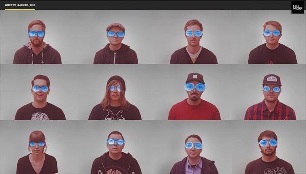Example of photos of people in website design: Legwork Studio