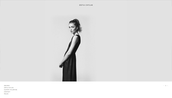 Example of photos of people in website design: Zofia Chylak