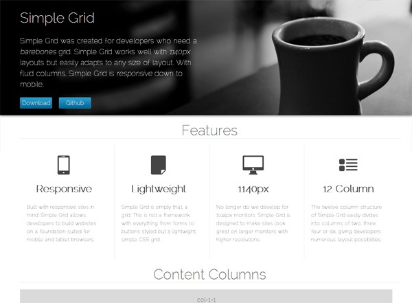 Responsive CSS grid: Simple Grid