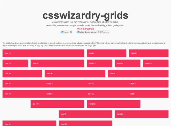 Responsive CSS grid: csswizardry-grids