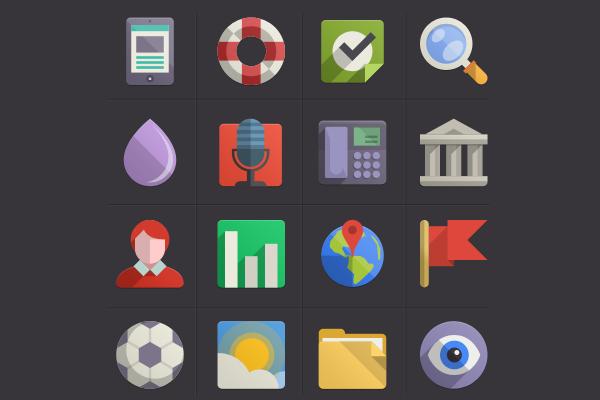 Flat Design Icons Set Vol. 4
