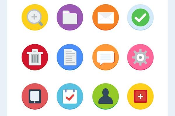 12 Flat Icons - Free
