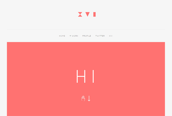 Minimalist web design example: Derek Boateng