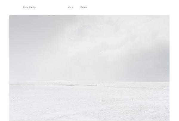 Minimalist web design example: Polly Stanton