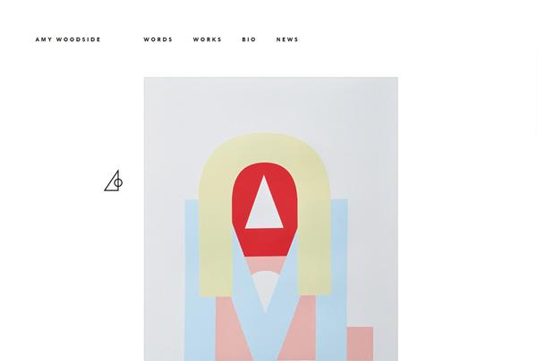 Minimalist web design example: Amy Woodside