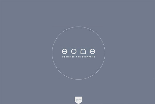 Minimalist web design example: Eone