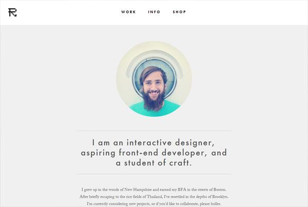 Minimalist web design example: Refryed Design