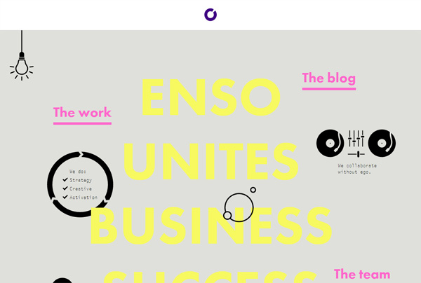 Minimalist web design example: Enso