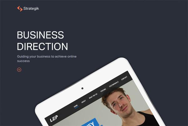 Minimalist web design example: Strategik