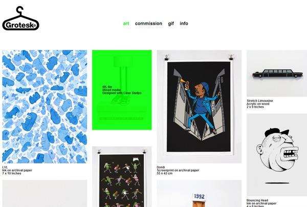Minimalist web design example: Grotesk