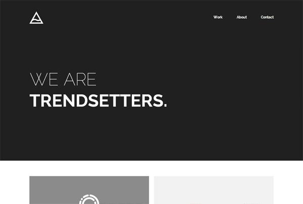 Minimalist web design example: TheIssland