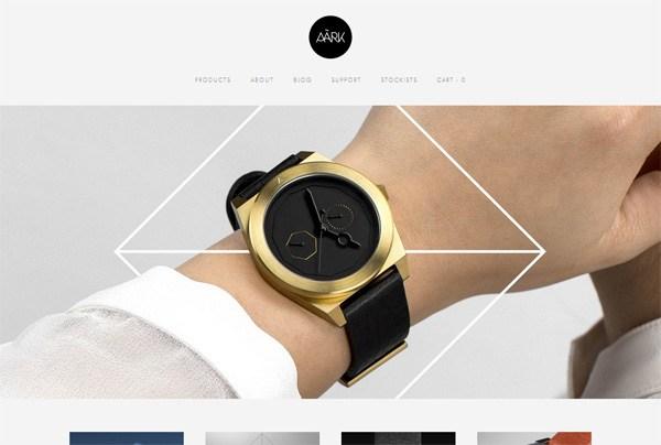 Minimalist web design example: AÃRK Collective