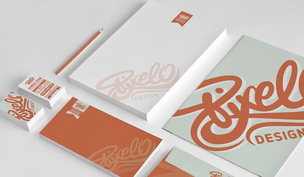 Beautiful Typography in a Print Design: Pixello Design 2