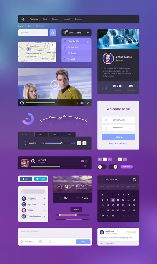 New free website graphics: Flat UI Kit
