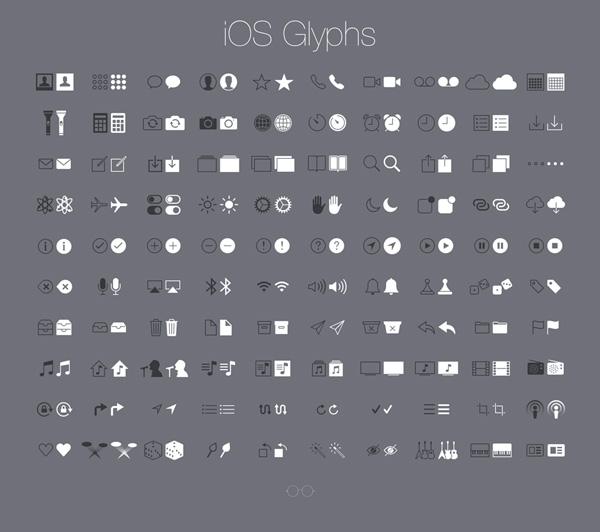 New free website graphics: iOS Glyphs
