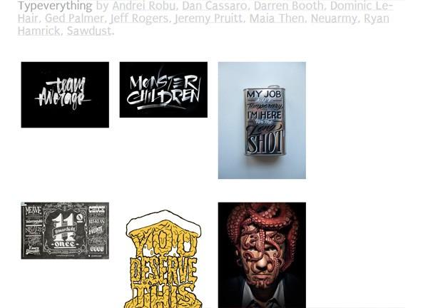 Typography Inspiration Website: Typeverything