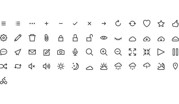 Free simple icon set: hicons