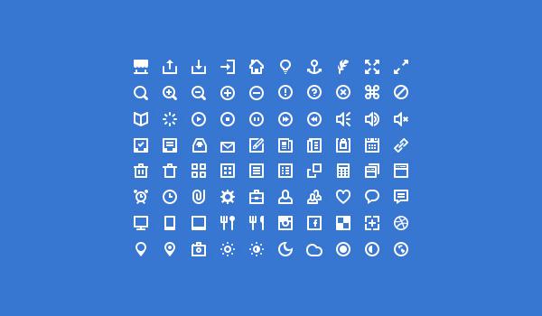 Free simple icon set: 80 Mini Icons