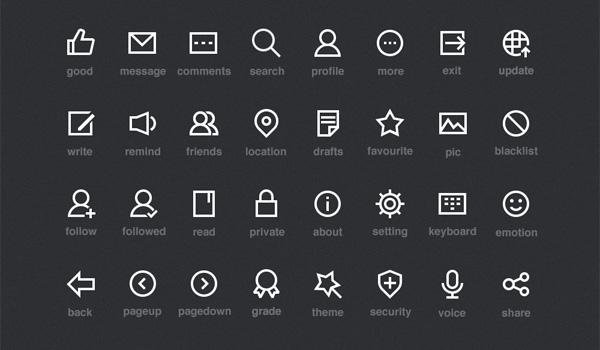 Free simple icon set: Rectangular Icons PSD