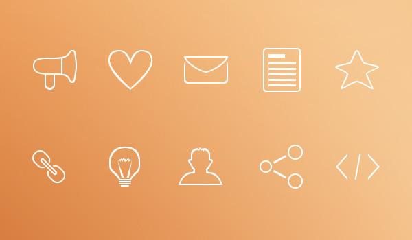 Free simple icon set: Minimal Outline Icons Freebie