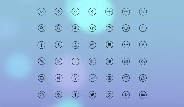 Free simple icon set: iOS 7 Glyph Icons