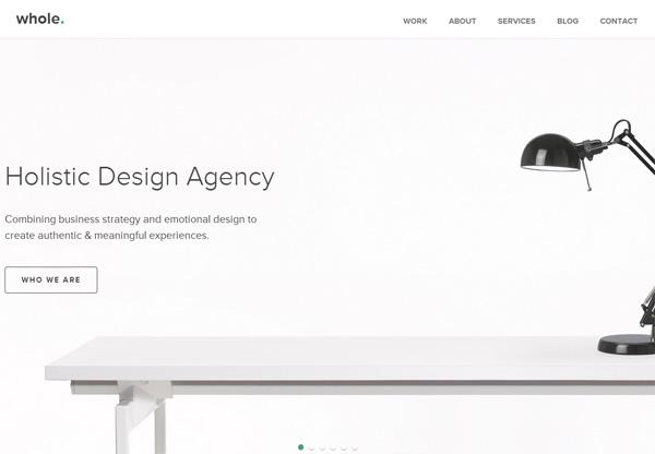Simple Portfolio Website Design For Inspiration: Wholedesignstudios.com