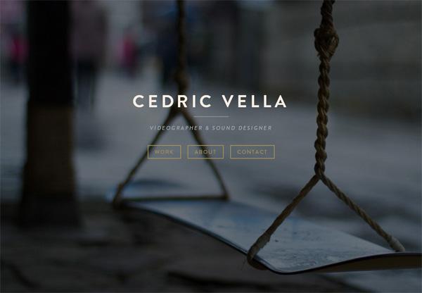 Simple portfolio website design for inspiration: www.cedricvella.com