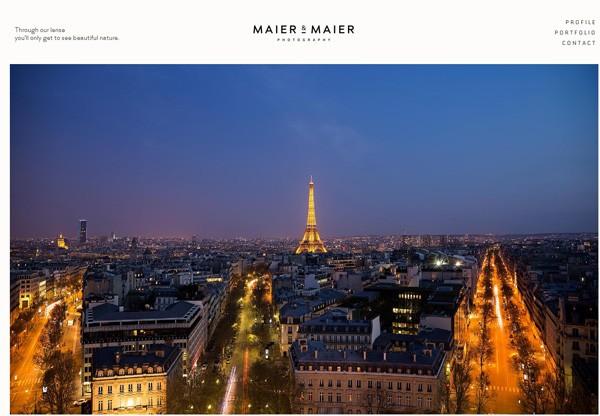 Simple portfolio website design for inspiration: www.maierandmaierphotography.com