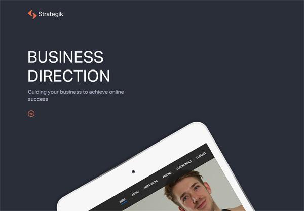 Simple portfolio website design for inspiration: www.strategik.co.uk