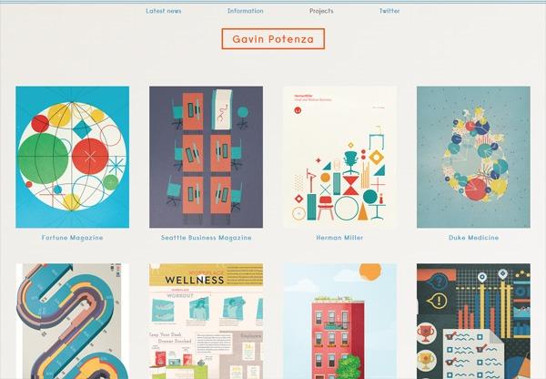 Simple portfolio website design for inspiration: gavinpotenza.com