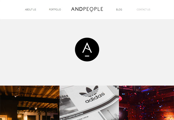Simple portfolio website design for inspiration: www.andpeople.co.za