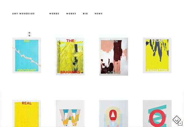 Simple portfolio website design for inspiration: amywoodside.com