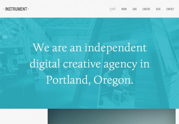 Simple portfolio website design for inspiration: weareinstrument.com