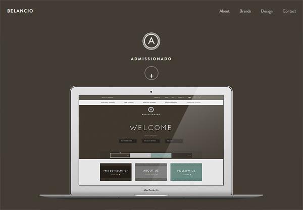 Simple portfolio website design for inspiration: www.belancio.com