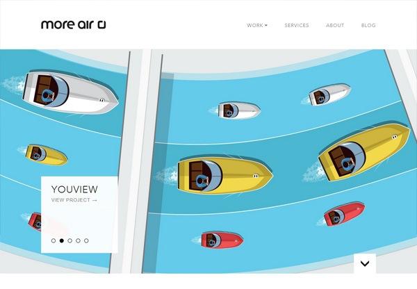 Simple portfolio website design for inspiration: moreair.co