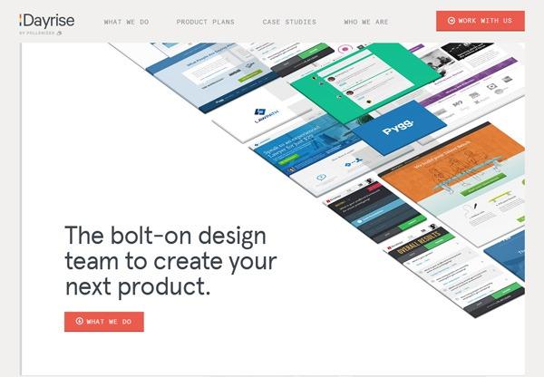 Simple portfolio website design for inspiration: dayrise.co