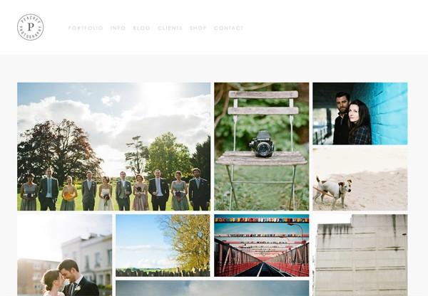 Simple portfolio website design for inspiration: peacheyphotography.co.uk