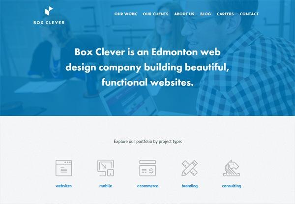 Simple portfolio website design for inspiration: www.boxclever.ca