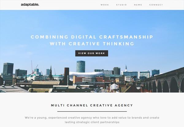 Simple portfolio website design for inspiration: weareadaptable.com