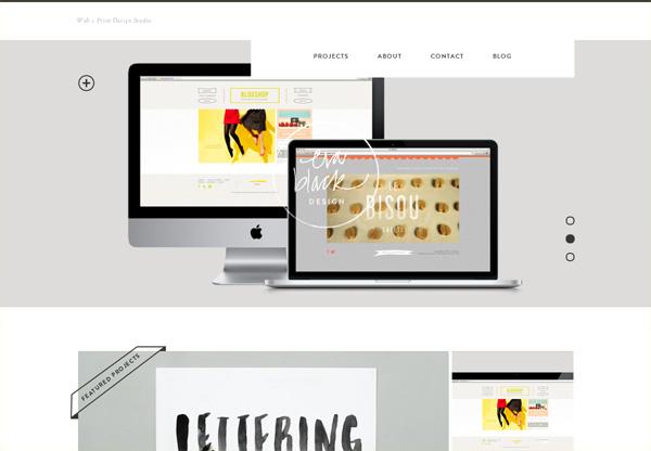 Simple portfolio website design for inspiration: evablackdesign.com