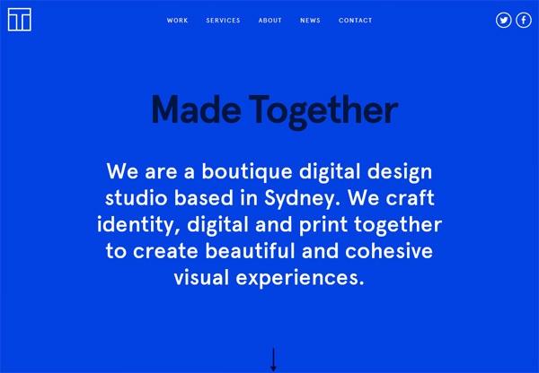 Simple portfolio website design for inspiration: www.madetogether.com.au
