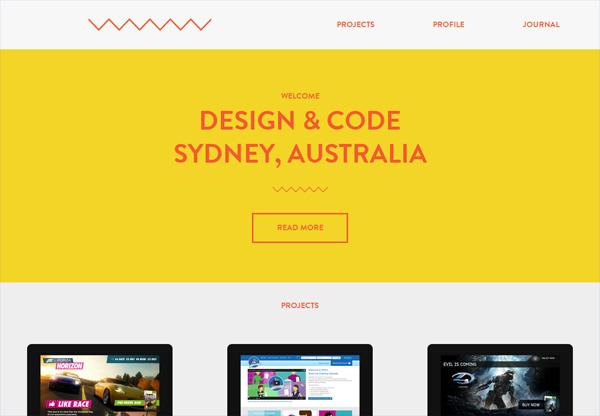 Simple portfolio website design for inspiration: doabackflip.com