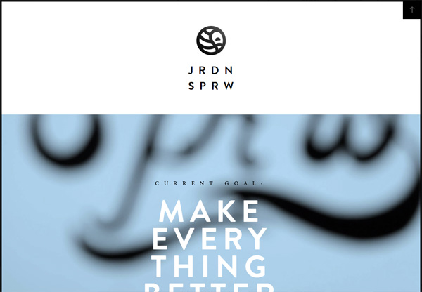 Simple portfolio website design for inspiration: www.findandform.com