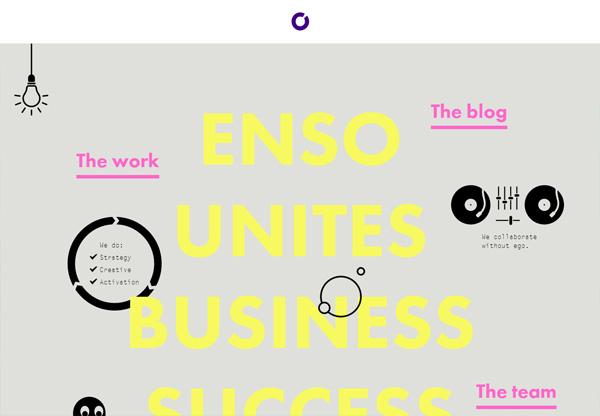 Simple portfolio website design for inspiration: helloenso.com