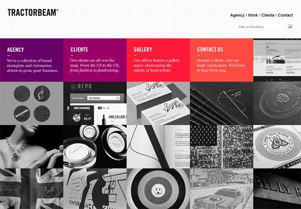 Simple portfolio website design for inspiration: tractorbeam.com
