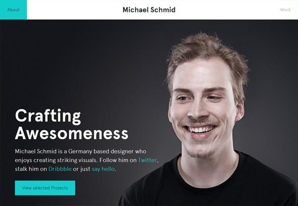 Simple portfolio website design for inspiration: workdiary.de