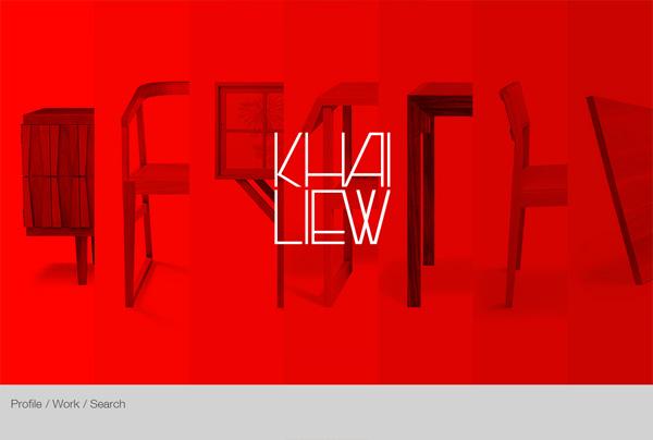 A website that with bold colors: Khai Liew