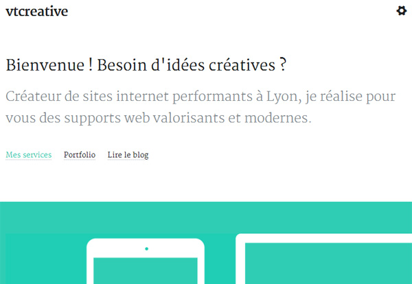 Example of Using Google Fonts: Vt Creative